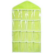 Culater® 16Pockets Clear Hanging Bag Socks Bra Underwear Rack Hanger Storage Organiser