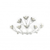 Crystal/ Diamante & Faux Pearl Tiara Comb / Hair Comb - Weddings/ Proms/ Holy Communion
