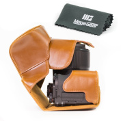 MegaGear Ever Ready Protective Leather Case for Canon PowerShot G3X Camera - Light Brown