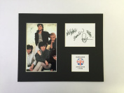 LIMITED EDITION DURAN DURAN SIGNED DISPLAY PRINTED AUTOGRAPH AUTOGRAPH AUTOGRAF AUTOGRAM SIGNIERT SIGNATURE MOUNT FRAME
