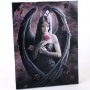 Fantastic Anne Stokes Design Gothic Rose Angel /Rose Fairy Canvas Picture On Frame Wall Plaque/ Wall Art