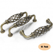Probrico Kitchen Cabinet Handle PD6399AB96 Zinc Alloy Antique Bronze 96mm Vintage Cupboard Pull 10 Pack