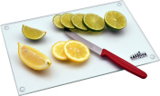 Harbour Housewares Glass Kitchen Chopping Board - Clear -