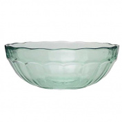 San Miguel Casual Glass Bowl 30cm - Made from Recycled Glass - Large Fruit Bowl