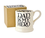Emma Bridgewater - Black Toast 'Dad is my Hero' 1/2 Pint Mug, Boxed