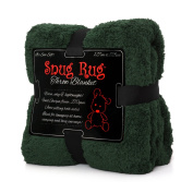 Snug Rug Luxury Sherpa Fleece Snug Rug Throw Blanket, Racing Green, 127 x 178cm  [Special Edition]