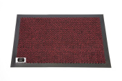 EHC 40 x 60 cm Small Door Rubber Backed Barrier Mat, Red/Black