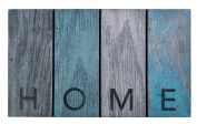 Ecomaster High Quality door mat HOME made of 95% recycled rubber for use inside or outside the home. 45 x 75 cm. Frost resistant. Original Scrapwood effect. Exists in 3 designs and 5 patterns.