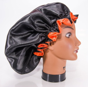Handmade Fully Reversible - High Quality Luxuries Pure Satin Hair Bonnet Safe For All Hair Types - Most Beneficial Hair care Product Available - Royal Sensations