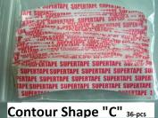 """SuperTape Contour """" C """" shape. 36-pcs= 1-pack double side adhesive"""