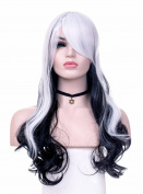 TLT High Quality New Women's Long Full Curly Wavy Glamour Hair Wig Fashion Heat Resistant Wigs the Focus of the Cosplay/Party BU065W