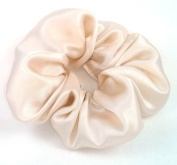 Champagne Silk Charmeuse Scrunchy-Regular