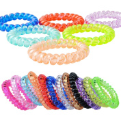 Fashion & Lifestyle Hair Ties Ponytail Holders - Large Boutique Girls Stretchy Elastic Hair Ropes Bands Styling Accessories for Women and Ladies Pack of 20, Random Mixed Colour