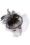 Womens Fashion Floral Fascinator w/ Veil