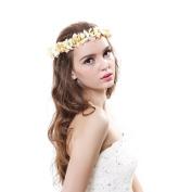 Flower Wreath Headband Floral Crown Garland Halo for Wedding Festivals