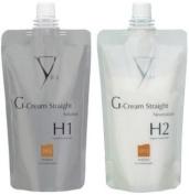 Yuko G Cream Straight Natural Coarse Hair Solution H1 + H2
