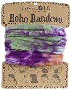 Natural Life Bandeau Tie Dye Band, Orange/Purple/Green