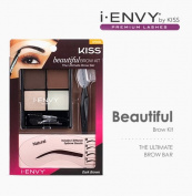i Envy by Kiss Beautiful Brow Kit - Dark Brown