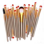 Orangeskycn 20 pcs Makeup Brush Set tools Toiletry Kit Wool