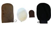 Self Tanner Kit With Tanning Mitt Applicator, Loofah Exfoliator, Tan Fading Glove, and Mini Mitt