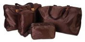 4 Pcs Travel Bag Set Lightweight Light Duty Bags - 4 Sizes - Use for Emergency Travelling Carry On Toiletry Cosmetic Baby Nappy Duffle Gym - Soft Folding for Space Saving Storage by Perfect Life Ideas