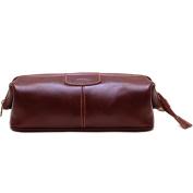 Floto Venezia Dopp Kit in Brown Full Grain Leather