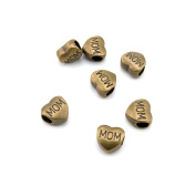 60 Pieces Jewellery Making Charms Findings Antique Bronze Brass Fashion Jewellery Wholesale Supplies Pendant Lots Bulk Supply O1VU1 Mon Heart Loose Beads