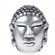 Charmstar Buddha head Charm Authentic 925 Sterling Silver Religious Beads for European Bracelet