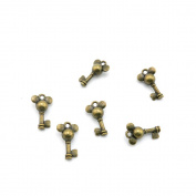 210 Pieces Jewellery Making Charms Findings Antique Bronze Brass Fashion Jewellery Wholesale Supplies Pendant Lots Bulk Supply XO071 Skeleton Key Mouse Micky