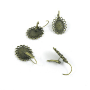 120 Pieces Jewellery Making Charms Findings Antique Bronze Brass Fashion Jewellery Wholesale Supplies Pendant Lots Bulk Supply N2GW6 Earrings Ear Clip Cabochon Frame Setting