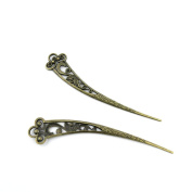 10 Pieces Jewellery Making Charms Findings Antique Bronze Brass Fashion Jewellery Wholesale Supplies Pendant Lots Bulk Supply DD029 Hairpin Head Pins