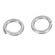 VALYRIA 50pcs Silver Stainless Steel Metal Split Open Jump Rings Craft Connectors Jewellery Making Findings,12mmx2mm