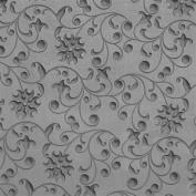 Cool Tools - Flexible Texture Tile - Floral Curls Embossed - 10cm X 5.1cm