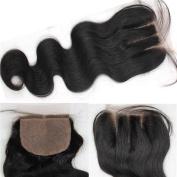 Youth Beauty® Body Wave Silk Base Top Closure Bleached Knots Free Part 10cm X 10cm Brazilian Virgin Human Hair closure Natural Colour 25cm