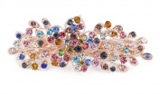 YESHINE Women Rhinestone Crystal beaded Flower Pattern Hair Barrettes Clips,Multicolors