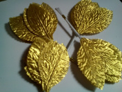 Gold Metallic Leaves 5.1cm , Wilton, Pack of 144.