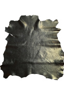 Best Quality Hide from Leather Treasure Shop✮Genuine Spanish Full Skins✮Black ✮0.4sqm✮60ml avg Thickness✮Metallic Cracked Finish✮Lambskin✮Improve The Look Of Your Leather Projects Now!
