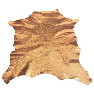 Best Quality Hide from Leather Treasure Shop✮Genuine Spanish Full Skin✮Sparkly Peach✮0.3sqm✮60ml avg Thickness✮Cracked Colour Finish✮Lambskin✮Improve The Look of Your Leather Projects Now!