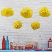 Sorive® Yellow Tissue Paper Pom Poms 5 Pack Wedding & Party Decorations - Vintage Lace