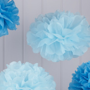 Sorive® Baby & Dark Blue Tissue Paper Pom Poms 5 Pack Wedding, Baby Shower & Party Decorations - Vintage Lace