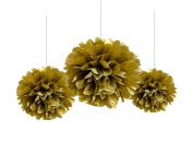 Sorive® 12 Mixed Gold Party Tissue Pompoms Paper Flower Pom Poms Wedding Birthday Nursery Baby Room Decoration Favour
