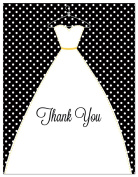 50 Stitched Bride Polka Dots Wedding Thank You Cards