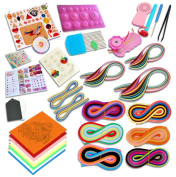 GHonG Quilling Paper Kits with Tools 36 colours 1560 Strips Board Mould Crimper Coach Comb DIY Set