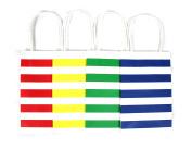 12CT STRIPE KRAFT BAG