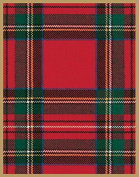 Christmas Holiday Gift Tags with Envelope Royal Plaid 4 Pc. 8.9cm x 6.4cm