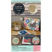 Wood Monogram Trend Pack Punched For Cross Stitch Kit-