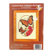1986 Nicole Creations Counted Cross Stitch Butterflies 13cm x 18cm No. 1923