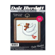 1986 Dale Burdett A Country Cross Stitch Flying Goose with Teddy Kit No. CK281