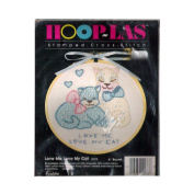 "Hoop Las ""Love Me Love my Cat"" Needlepoint Kit Hoop 10cm Round No. 20278"