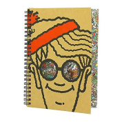 Official Where's Wally Premium A5 Lined Notebook with Black Debossed Design
